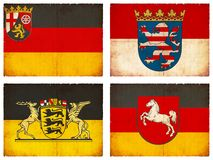 Set of flags from Germany #1 Stock Photo