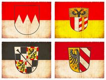 Set of flags from Germany #4 Stock Images