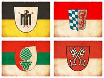 Set of flags from Bavaria, Germany #5 Royalty Free Stock Photos