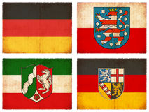 Set of flags from Germany  Royalty Free Stock Photos