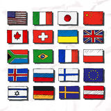 Set of flags. Royalty Free Stock Photo