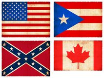 Set of flags from North America #1 Stock Photography