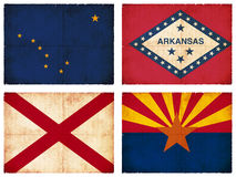 Set of flags from North America Stock Photography