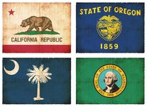 Set of flags from North America #10 Stock Photography