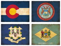 Set of flags from North America #6 Royalty Free Stock Photo