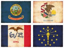 Set of flags from North America #3 Stock Photography