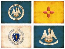 Set of flags from North America #5 Royalty Free Stock Photography
