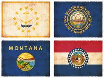 Set of flags from North America #8 Royalty Free Stock Photos