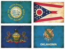 Set of flags from North America #11 Royalty Free Stock Photo