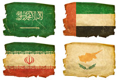 Set Flags old # 11 Royalty Free Stock Photos