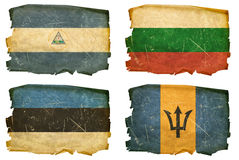 Set Flags old # 13 Stock Photos