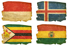 Set Flags old # 14 Royalty Free Stock Photos