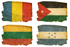 Set Flags old # 19 Stock Image