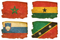 Set Flags old # 20 Stock Photography