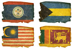 Set Flags old # 21 Stock Photography