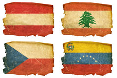 Set Flags old # 25 Royalty Free Stock Photos