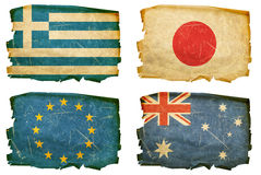 Set Flags old #3 Stock Photo