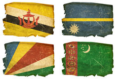 Set Flags old # 34 Stock Images