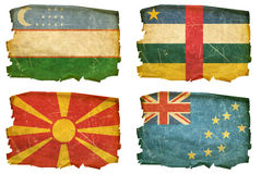 Set Flags old # 35 Royalty Free Stock Images