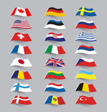 Set of flags Stock Photography