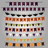 Set of flags and ribbons with a striking design for Halloween. V Stock Photos