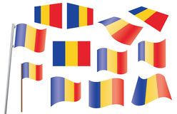 Set of flags of Romania. Vector illustration Royalty Free Stock Image