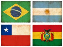 Set of flags from South America #1 Stock Photography