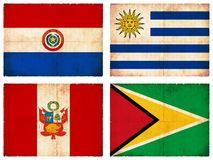 Set of flags from South America #2 Stock Photos