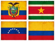 Set of flags from South America #3 Royalty Free Stock Image