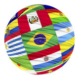 Set of flags of South American countries in alphabetical order Royalty Free Stock Photos