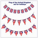 Set with flags United Kingdom. Bright set with flags United Kingdom for holidays. Illustration stock illustration