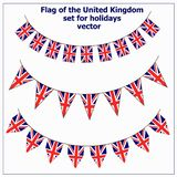 Set with flags United Kingdom. Bright set with flags United Kingdom for holidays. Vector illustration vector illustration