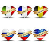Set of flags Royalty Free Stock Photos