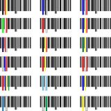 Set of Flags of the world. Set of Flags barcodes of the world Royalty Free Stock Photo
