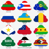 Set Flags of world sovereign states in form Stock Photos