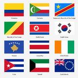 Set Flags of world sovereign states. Vector Stock Images