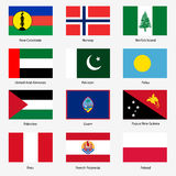 Set Flags of world sovereign states. Vector Stock Photography