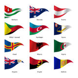 Set  Flags of world sovereign states. Vector Royalty Free Stock Photography