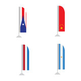 Set of flags. Set of world flags on a white background, Vector illustration Stock Photos