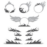 Set of flame forms for create logotype Royalty Free Stock Photo