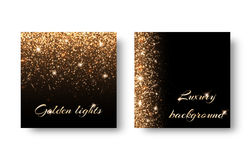 Set flash background. Set of backgrounds with festive lights on a black backdrop. Registration for celebrating birthdays, New Year, Christmas, Valentines Day Royalty Free Stock Photography