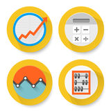 Set of flat accounting icons Royalty Free Stock Photography