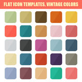 Set Of Flat App Icon Templates, Backgrounds. Vintage Palette Royalty Free Stock Photography