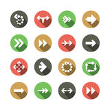Set of Flat Arrow Icon Designs Stock Photography