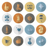 Set of Flat Autumn Icons Royalty Free Stock Photos