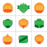 Set of flat badges and ribbons.  royalty free illustration