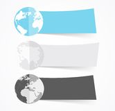 Set of flat banners Royalty Free Stock Photos