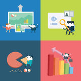 Set of flat  business concept design.  Royalty Free Stock Photos