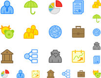 Set of flat business icons. Royalty Free Stock Images