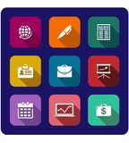 Set of flat business icons Royalty Free Stock Photography